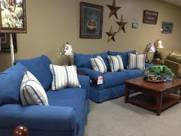 cindy crawford beachside sofa blue denim living room furniture denim loveseat review