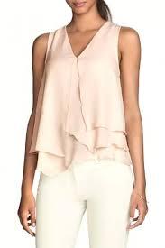 sleeveless ruffle blouse pink v neck sleeveless ruffle layer chiffon blouse beautifulhalo com