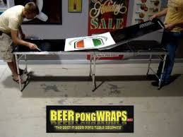 Hockey Beer Pong Table Beer Pong Wraps Custom Beer Pong Table Install Youtube