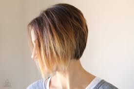 photos of the back of short angled bob haircuts styling an angled bob easy everyday tutorial one little momma
