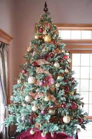 flocked tree decorated pictures reference