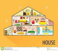 house cartoon interior stock photo image 55810120