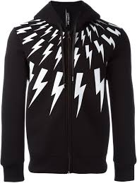 hoodie designer neil barrett lightning bolt hoodie 524 designer style id
