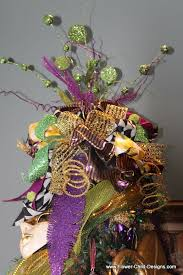 mardi gras tree decorations flower child designs february 2012