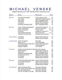 Acting Resume Template Word Theatrical Resume Templatetheatrical Resume Template Acting