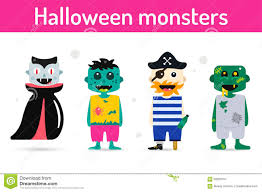 Halloween Monsters For Kids by Silhouette Kids Halloween Costume Isolated Stock Vector Image