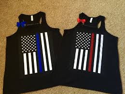Thin Blue Line Flag Thin Red Line Thin Blue Line Flag Shirt Ruffles With Love Law