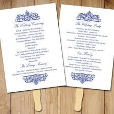 wedding fan programs templates emejing order of service wedding template pictures styles