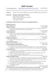 English Teacher Resume Samples by Biology Teacher Resume Nursing Instructor Cover Letter