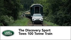 dalam kereta range rover land rover discovery sport tows 100 tonne train youtube