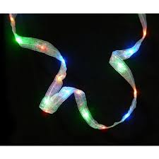 ribbon lights 9 battery operated white iridescent ribbon with multi color led