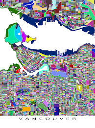 Map Vancouver Canada by Vancouver Bc Canada City Map That Has A Fun Colourful Abstract