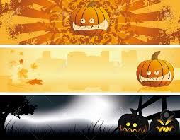 halloween pumpkin banners abstract holiday background banners