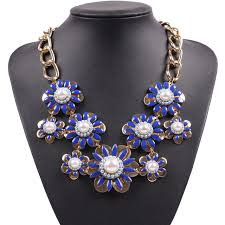 fashion design necklace images Fashion 2018 new model brand elegant flower statement gold jpg