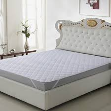 buy signature mattress protector white double bed waterproof and