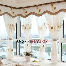 Buy Valance Curtains Eco Friendly Cotton Linen Fabric Decorative Bay Window Curtain No