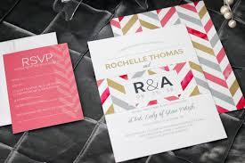Invitations For Weddings Bold Chevron Wedding Invitation Impressions U2013 Custom Invitations