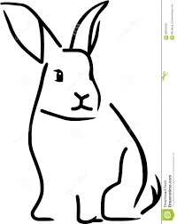 outline vector of a rabbit stock vector image 58004358