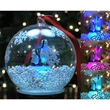led glass globe ornament painted