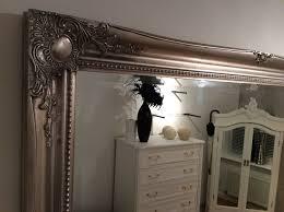 x large silver shabby chic wall mirror 46inch x 36inch 117cm x