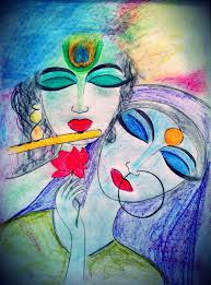 pencil sketches radha krishna abstract sketches
