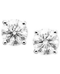 white earrings diamond stud earrings in 14k white gold 1 ct t w earrings