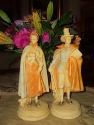 thanksgiving pilgrim statues antique garden my vintage thanksgiving centerpiece