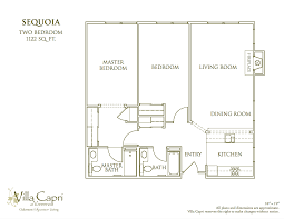 Gallery Floor Plans by Floor Plan Gallery U2013 Oakmont Of Villa Capri