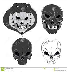 18 scary cartoon faces vector images scary cartoon ghost face
