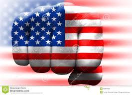 United States American Flag Usa Flag Fist Stock Illustration Image Of United States 35394565