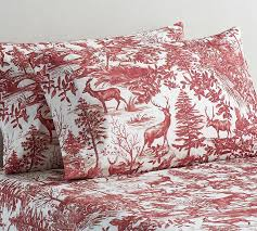 sofa bed sheets queen alpine toile sheet set pottery barn