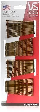 bobby pins vidal sassoon bobby pins brown 60 count hair pins
