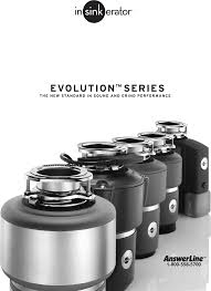 insinkerator garbage disposal evolution excel user guide
