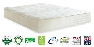 plushbeds 10 u2033 medium firm botanical bliss latex mattress queen