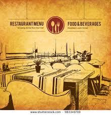 restaurant menu design vector menu brochure stock vector 583349719