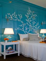 decorating the bedroom with plants or a botanical theme beautiful bird and branch wall mural in bedroom