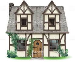 tudor home with ivy stock vector art 472289921 istock