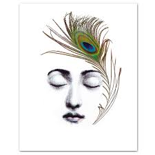 the peacock feather art print 8 x 10
