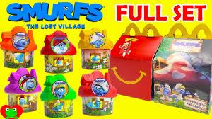 2017 smurfs lost village mcdonald u0027s happy meal toys
