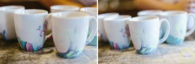 water color coffee cups with nail polish zest it up