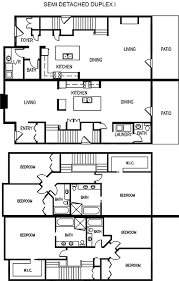 Basic Duplex Floor Plans Edmonton Duplexes Or Semi Detached Homes Blueprints