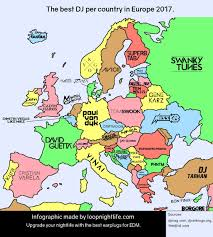The Best Map Of The World by This Map Shows The Craziest Dj U0027s From Europe Period U2013 Loop
