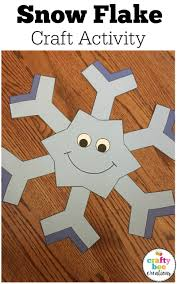 snowflake cut and paste bulletin board kindergarten and students