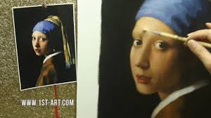 vermeer the girl with the pearl earring painting painting reproduction vermeer the girl with a pearl earring