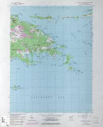 St Thomas Virgin Islands Map U S Virgin Islands Topographic Maps Perry Castañeda Map