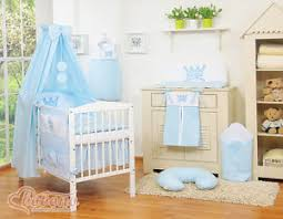 Cot Bed Canopy New Little Prince Baby Blue Bedding Set Only For Cot Or Cot Bed