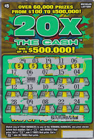 halloween scratch off tickets oakland county man wins 500 000 in 20x the cash instant game from