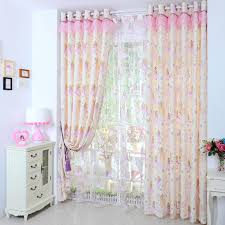 Childrens Curtains Girls Girls Pink Princess Cartoon Cotton Half Blackout Kids Curtains No