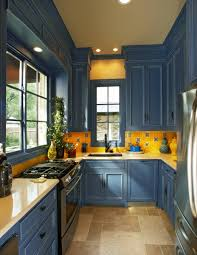 blue kitchen cabinets and yellow walls 75 beautiful kitchen with blue cabinets and yellow