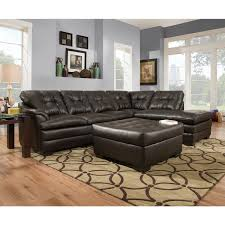 Simmons Ottoman Simmons Upholstery Apollo Espresso Sectional And Ottoman Free